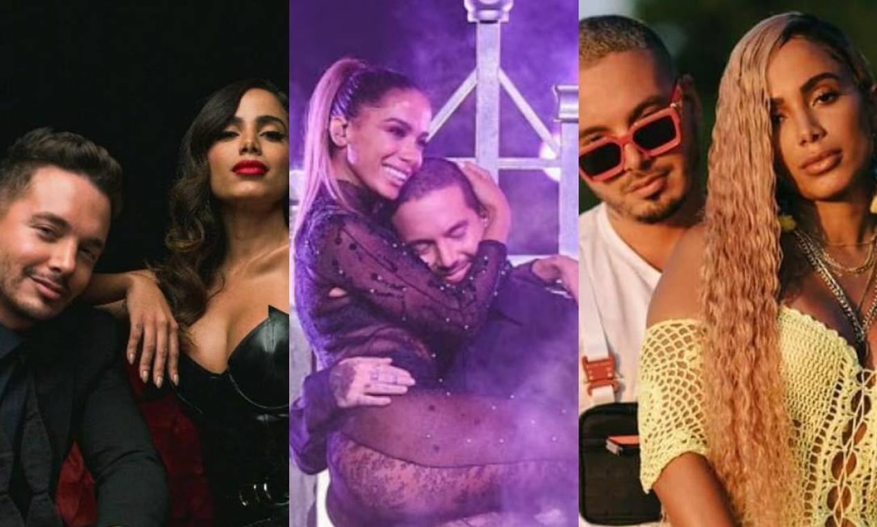 """J Balvin: Grandes amigos, a parceria entre a funkeira e o colombiano rendeu 4 músicas - """"Ginza"""" (2016), """"Downtown"""" (2017), """"Machika"""" (2018) e """"Bola Rebola"""" (2019). Foto: Reprodução"""