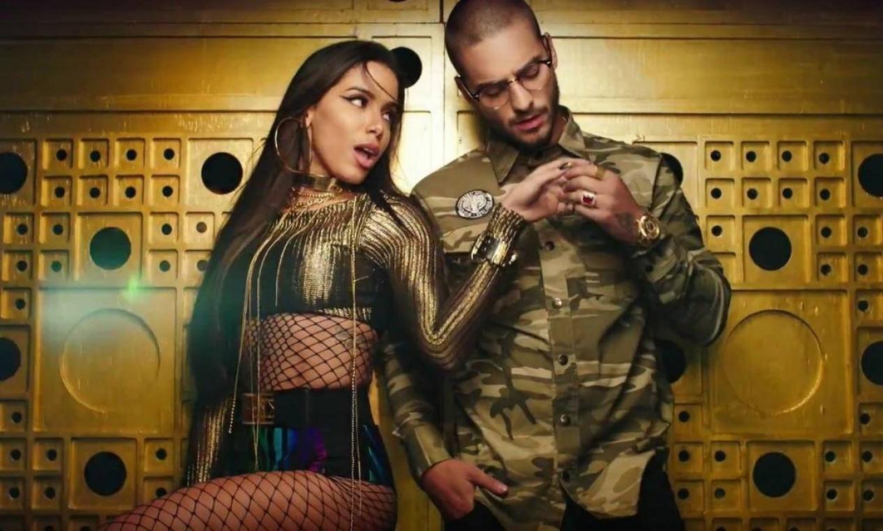 """Maluma: O colombiano foi a primeira grande parceria da cantora, na música """"Sim ou Não"""" (2016). Ele o convidou para o remix da sua """"Mala Mia"""" (2018), com Becky G. Também estão juntos na recente """"Mi Niña Remix"""", com Myke Towers e Wisin. Foto: Reprodução"""