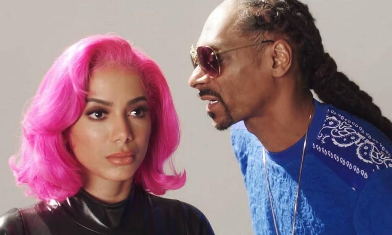 """Snoop Dogg: trabalharam juntos duas vezes em 2019, em """"Onda Diferente"""" (2019), parceria com Ludmilla, e """"Little Square UbitchU"""", para o álbum do rapper lançado no mesmo ano. Foto: Reprodução"""