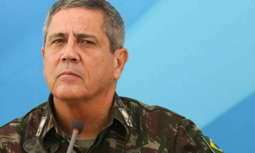 O novo ministro da Defesa, Braga Netto Foto: Marcelo Camargo / Agência Brasil