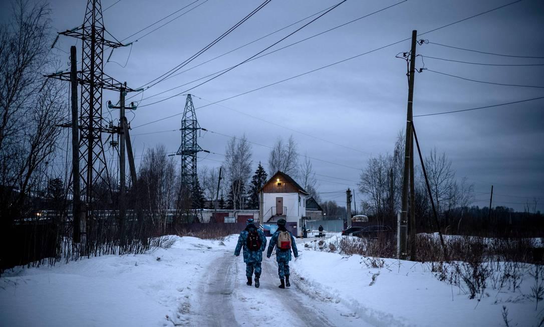 Port?o da Col?nia Penal no 2, em Pokrov, onde está preso Alexei Navalny Foto: DIMITAR DILKOFF / AFP