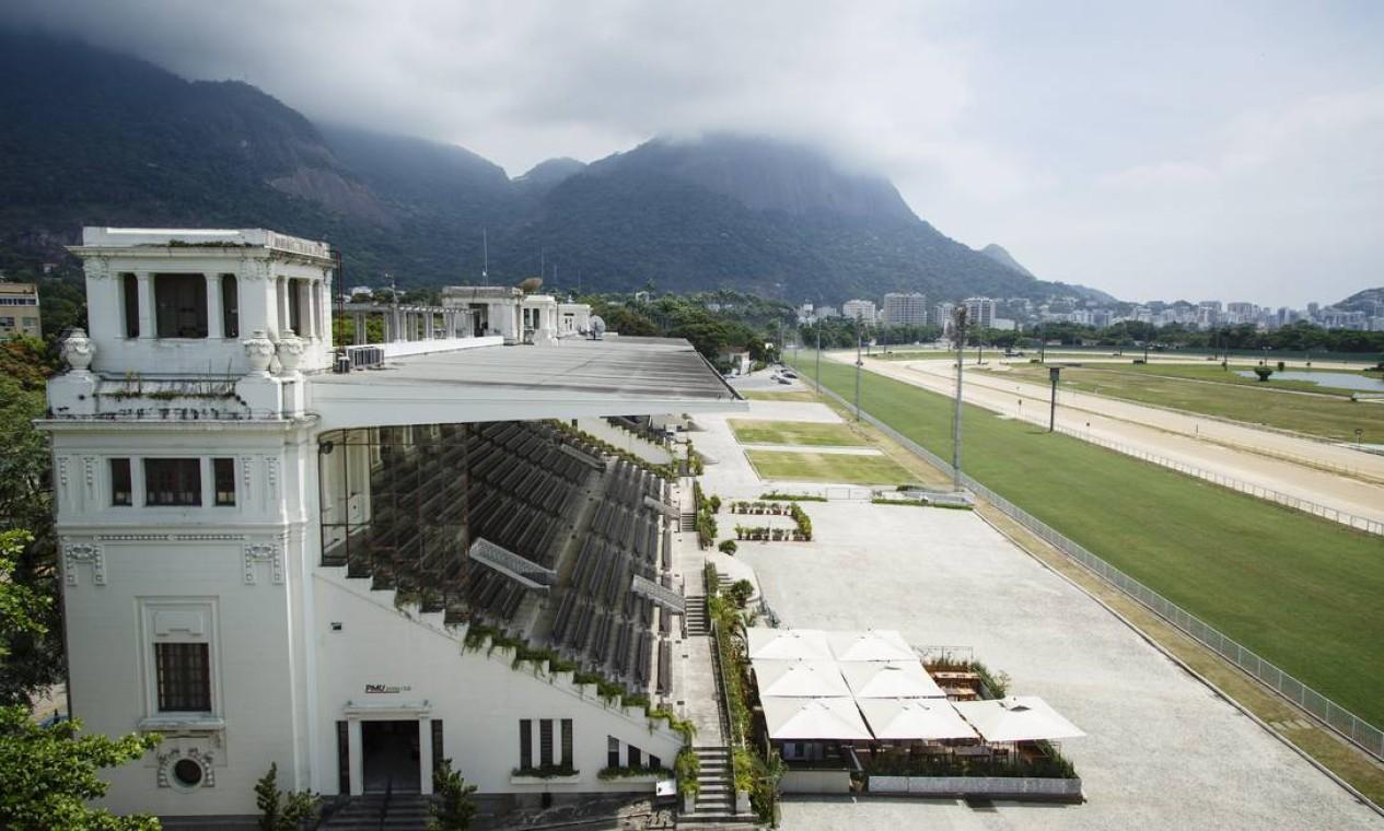 Jockey Club, na Gávea, Zona Sul do Rio Foto: Fernando Lemos / Agência O Globo