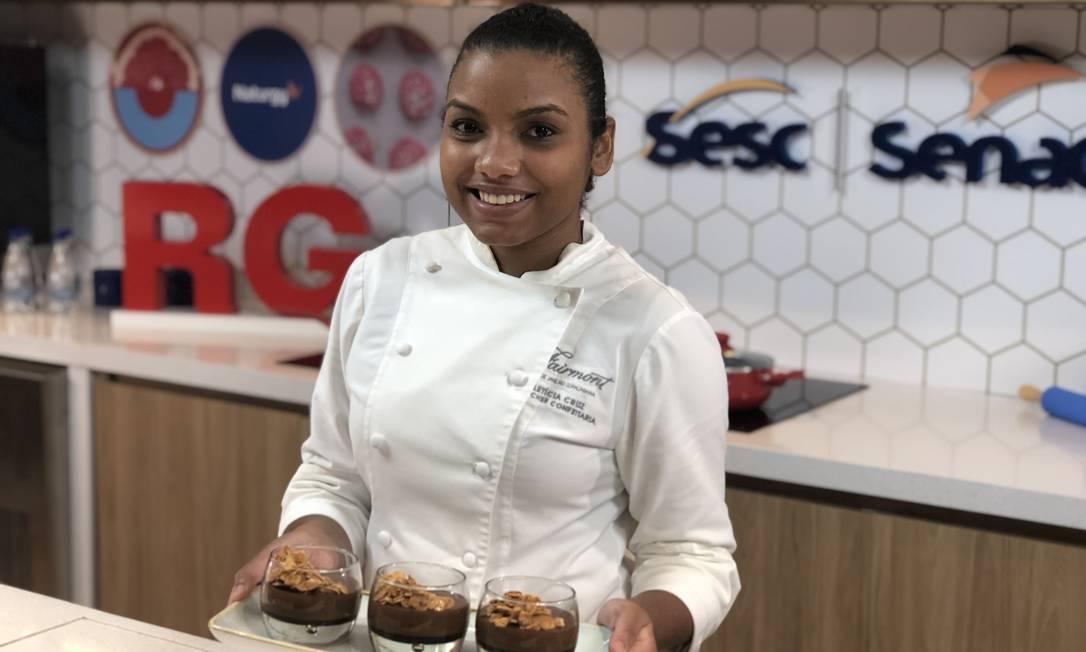 Letícia Cruz: chef de confeitaria do hotel Fairmont Rio Foto: divulgação