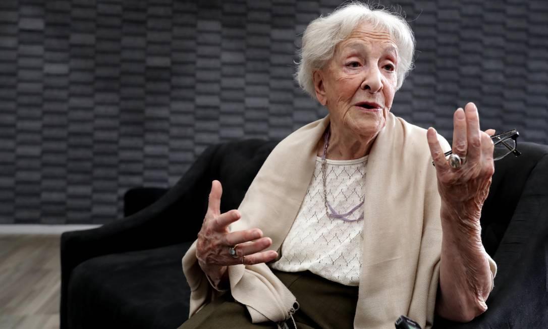 A poeta Ida Vitale Cervantes em 2019, na Cidade do México Foto: JUAN BOITES / Agência O Globo