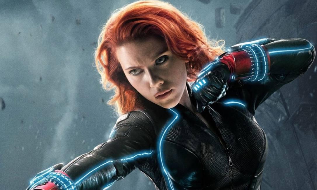 "Scarlett Johansson em ""Viúva Negra"": em julho Foto: Divulgação"