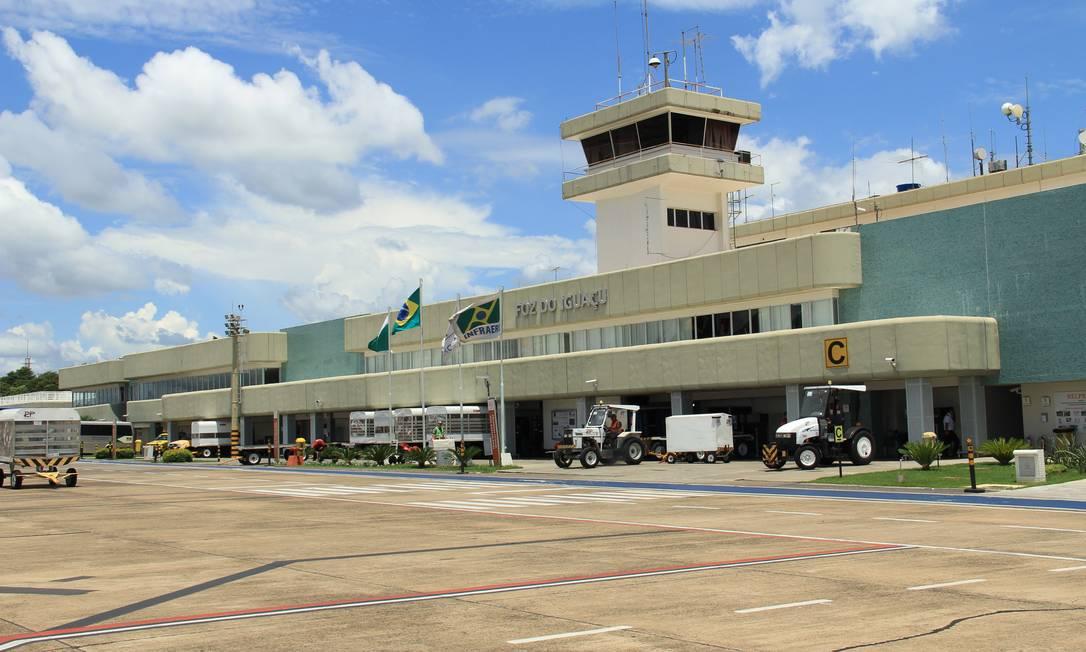 Aeroporto Internacional de Foz do Iguaçu, que será leiloado Foto: Infraero / Infraero/Divulgação