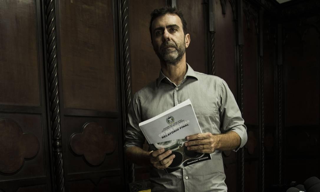 Deputado federal Marcelo Freixo, do Psol do Rio Foto: Guito Moreto / Agência O Globo