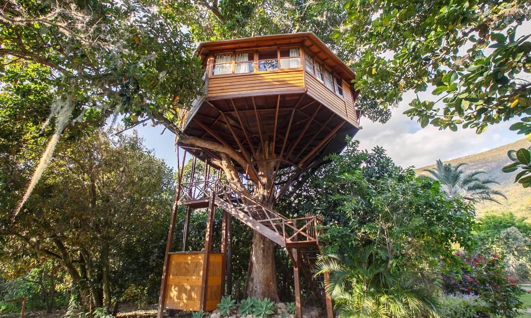 A Suíte Deluxe - Casa na Árvore da Pousada Lendas do Capão, em Palmeiras, nos arredores do Parque Nacional da Chapada Diamantina, Bahia Foto: Lendas do Capão Pousada / Reprodução