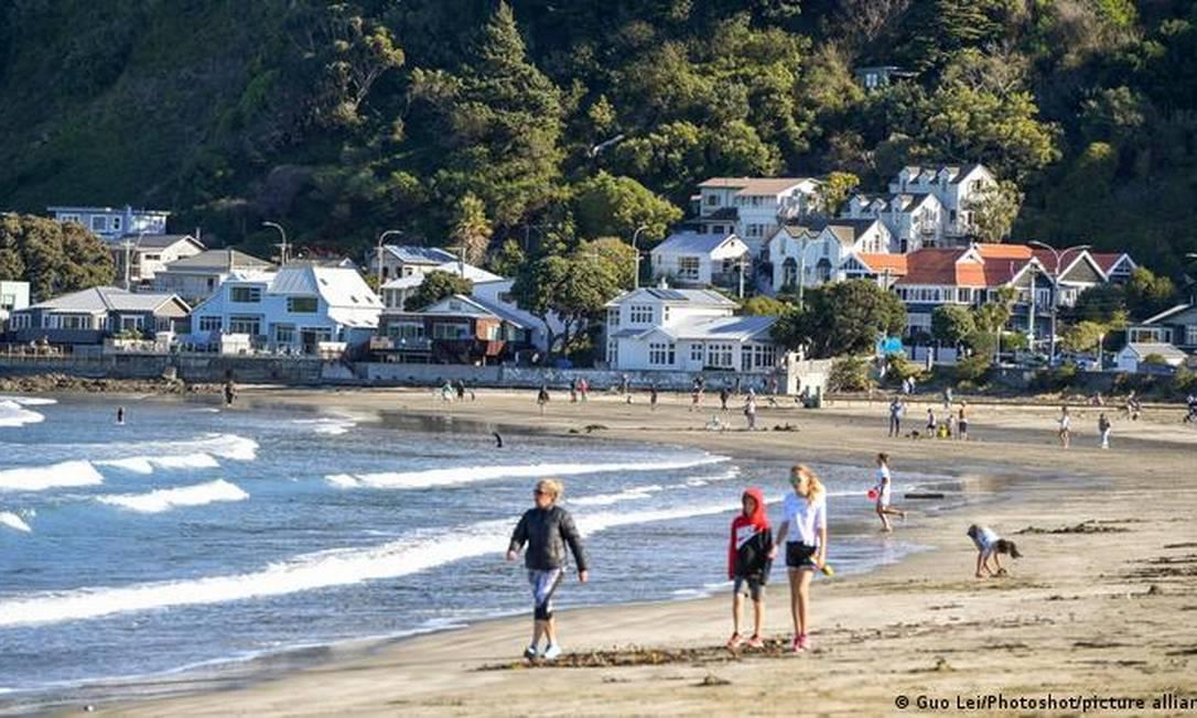 Welington, na Nova Zelândia, um dos países onde a pandemia foi controlada Foto: Guo Lei