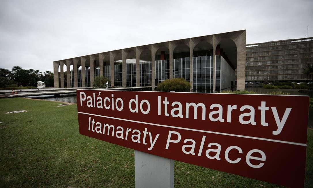 Fachada do Palácio do Itamaraty Foto: Pablo Jacob / Agência O Globo