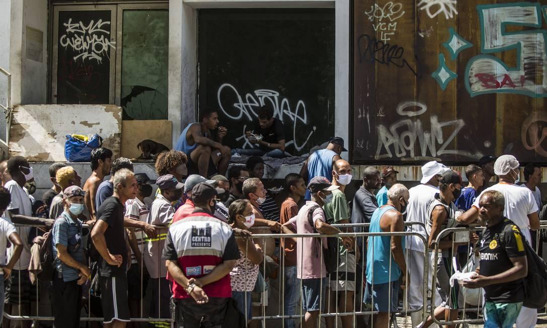 Quase metade da população vive uma situação de insegurança alimentar Foto: Guito Moreto / Agência O Globo