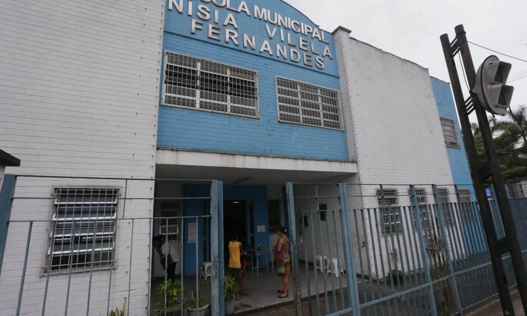 Escola municipal em Caxias: no município da Baixada, aulas estão permitidas desde fevereiro, apesar de risco 'muito alto' para Covid-19 Foto: Cléber Júnior em 8-2-2020 / Agência O Globo