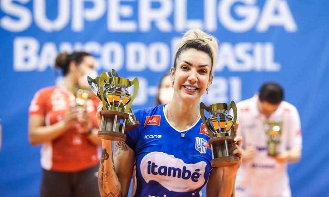 Thaisa foi eleita a melhor jogadora da Superliga Foto: Wander Roberto/Inovafoto/CBV/Divulgação