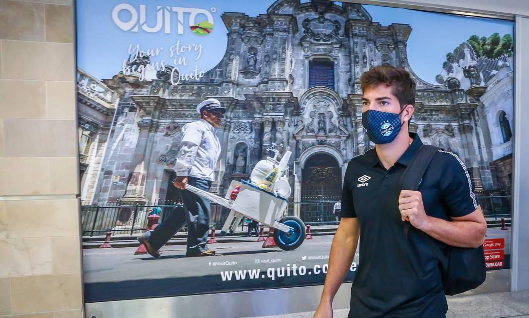 Grêmio foi a Quito, mas casos positivos fizeram autoridades locais não autorizar jogo Foto: Lucas Uebel / Lucas Uebel/Gremio FBPA