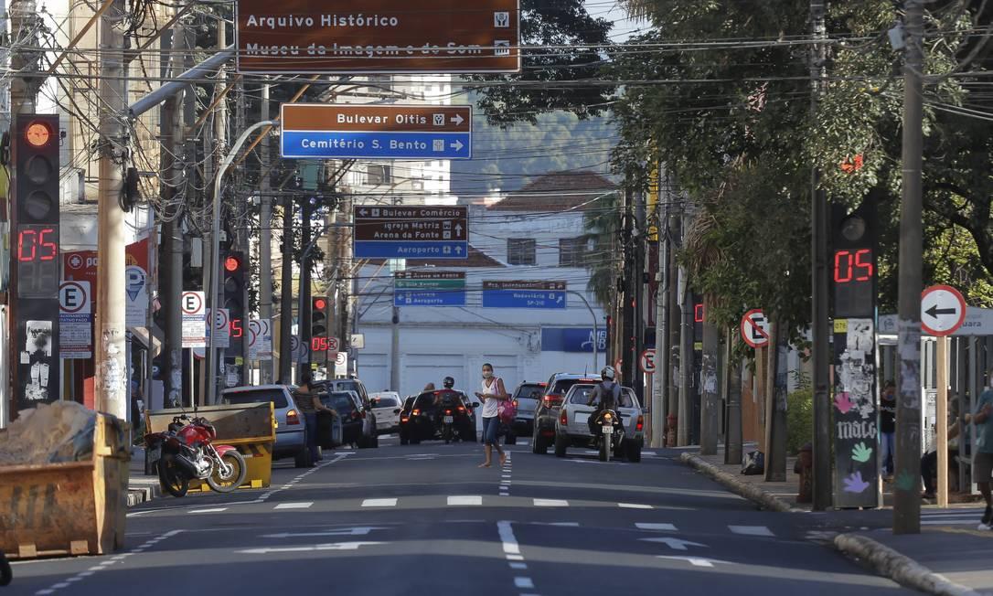 Araraquara registrou queda de infectados pelo coronavírus depois de medidas restritas de controle da doença Foto: Edilson Dantas/12.03.2021 / Agência O Globo