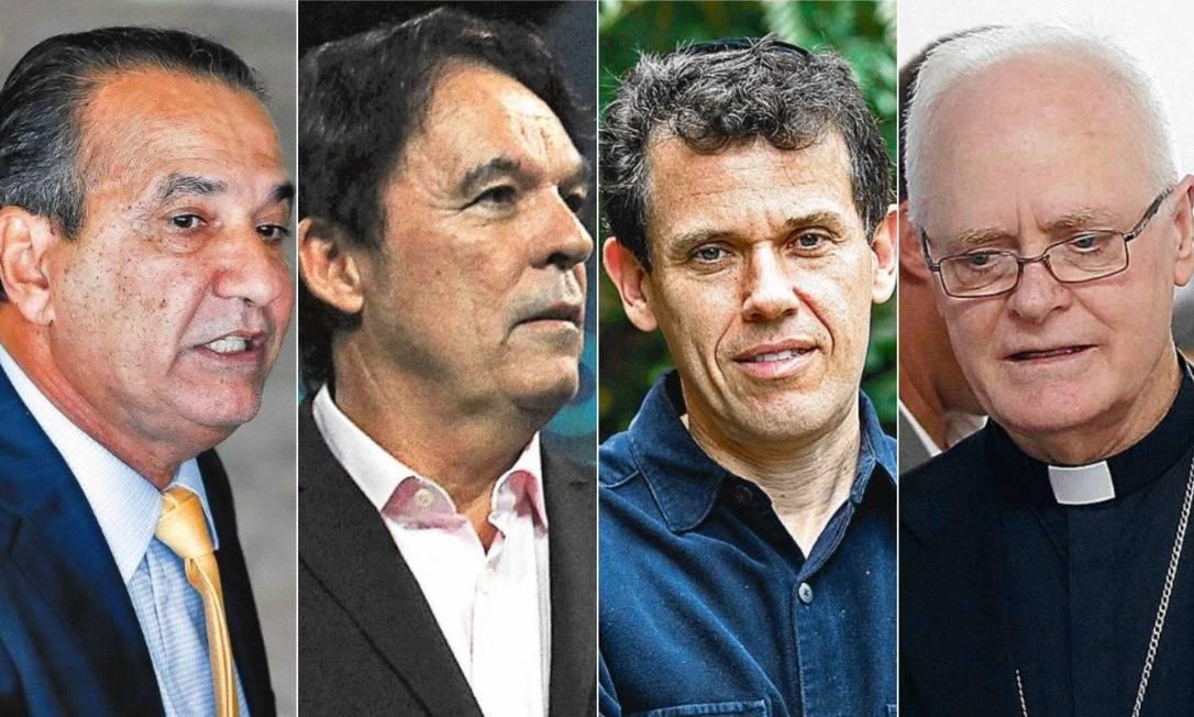 Silas Malafaia, Robson Rodovalho, Nilton Bonder e Dom Odilo Scherer Foto: Editoria de Arte