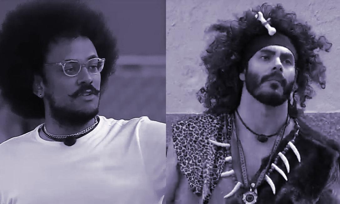 Ao comparar o cabelo de João ao de um homem das cavernas, Rodolffo do 'BBB21' cometeu racismo recreativo Foto: Divulgação