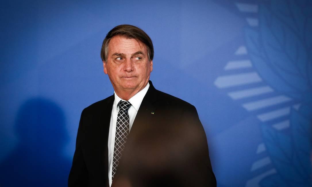 O presidente Jair Bolsonaro Foto: Pablo Jacob/Agência O Globo