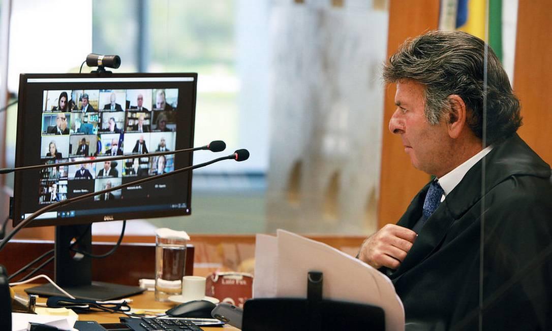 Fux preside sessão no STF sobre realização de cerimônias religiosas na pandemia de covid-19 Foto: Divulgação