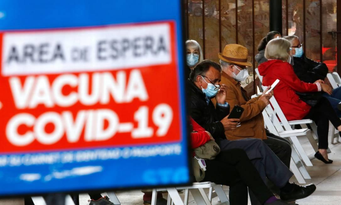 Chile realizou vacinação em massa no país Foto: Marcelo Hernandez / Getty Images