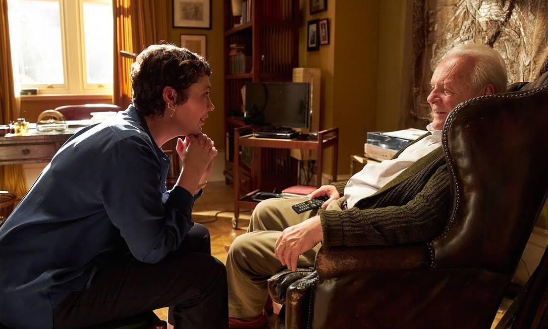 """Olivia Colman e Anthony Hopkins em cena de """"Meu pai"""" Foto: Divulgação"""