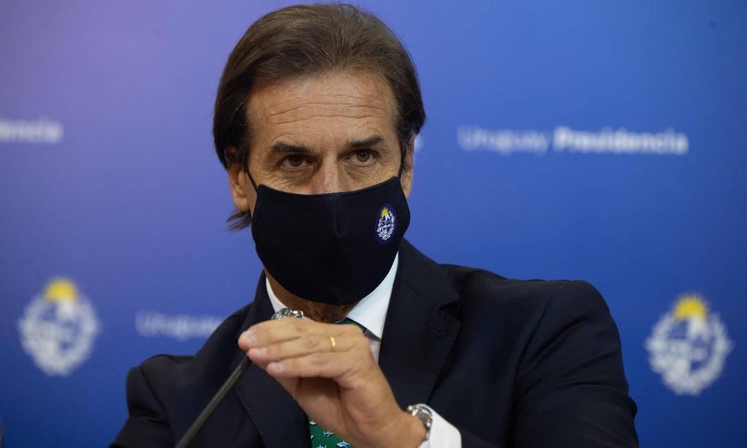 Presidente do Uruguai Luis Lacalle Pou Foto: PABLO PORCIUNCULA / AFP