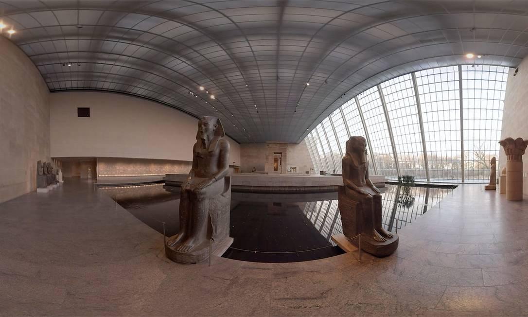 Tour virtual em 360 graus no Templo de Dendur, na galeria egípcia no Metropolitan Museum of Art, em Nova York Foto: The Met / Divulgação