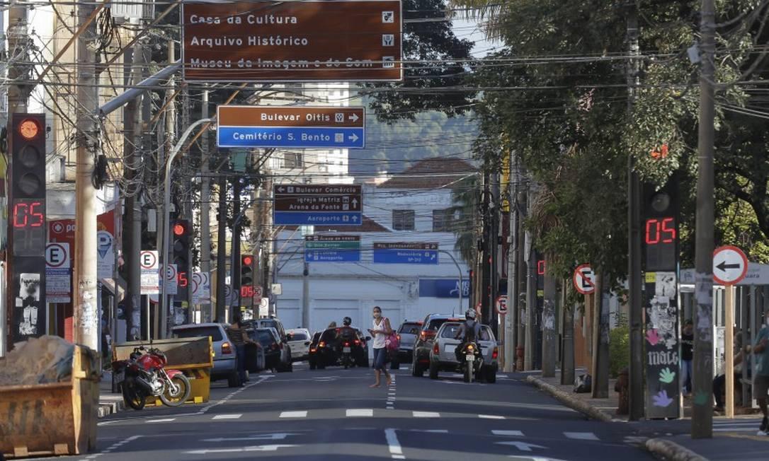 Araraquara registra queda de infectados pelo novocoronavirus depois de medidas restritas de controle da doença (12/03/2021) Foto: Edilson Dantas / Agência O Globo