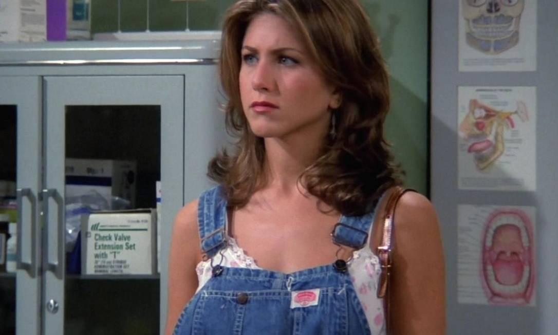 Jennifer Aniston, a Rachel, em um dos primeiros episódios da série, em 1994 Foto: Reprodução