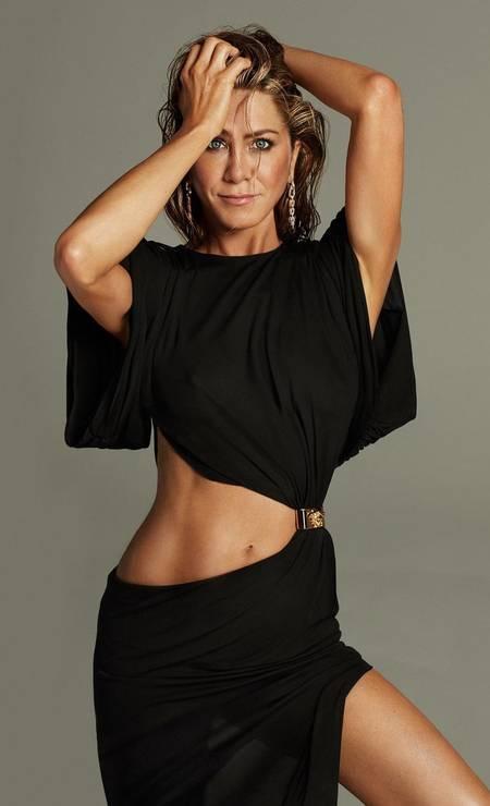 Jennifer Aniston, aos 52 anos, em 2021 Foto: Reprodução