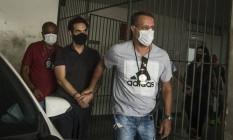 Jairinho chega à Cidade da Polícia após ser preso Foto: Guito Moreto / Agência O Globo