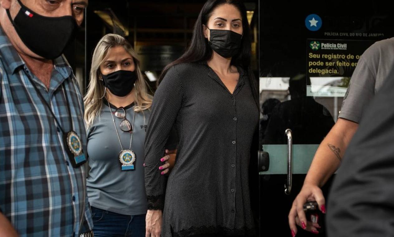 Monique Medeiros, mãe do menino Hnery cumpre prisão preventiva e será indiciada por tortura e homicídio duplamente qualificado Foto: Brenno Carvalho / Agência O Globo