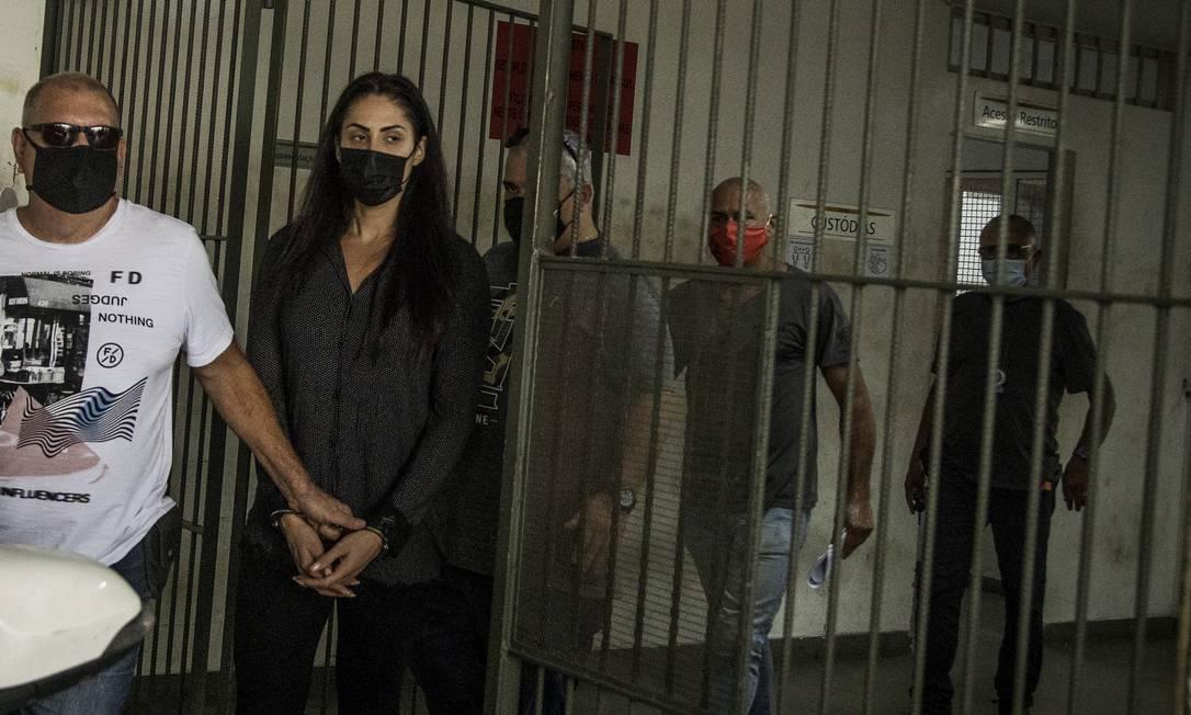 Monique foi presa na investigação sobre a morte de seu filho, Henry Foto: Guito Moreto / Agência O Globo / 08-04-2021