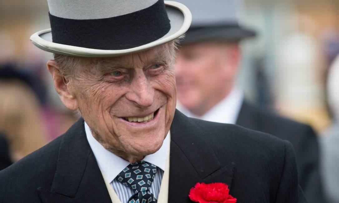Príncipe Philip, marido da rainha Elizabeth II, durante evento no Palácio de Buckingham Foto: VICTORIA JONES / AFP/16-5-2017
