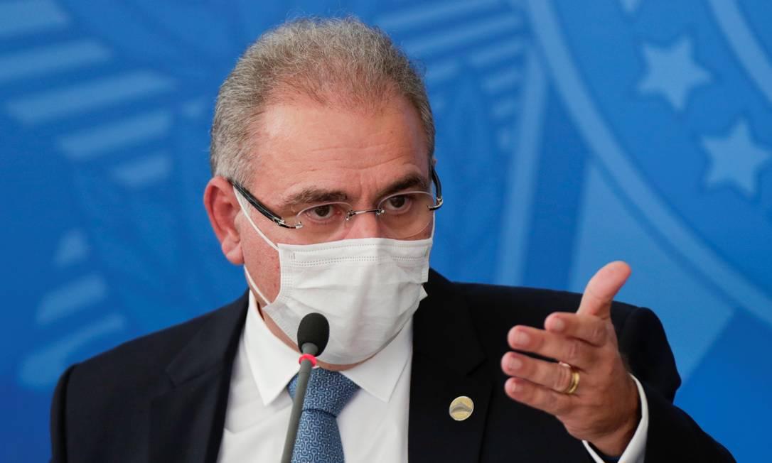 Ministro da Saúde, Marcelo Queiroga Foto: UESLEI MARCELINO / REUTERS