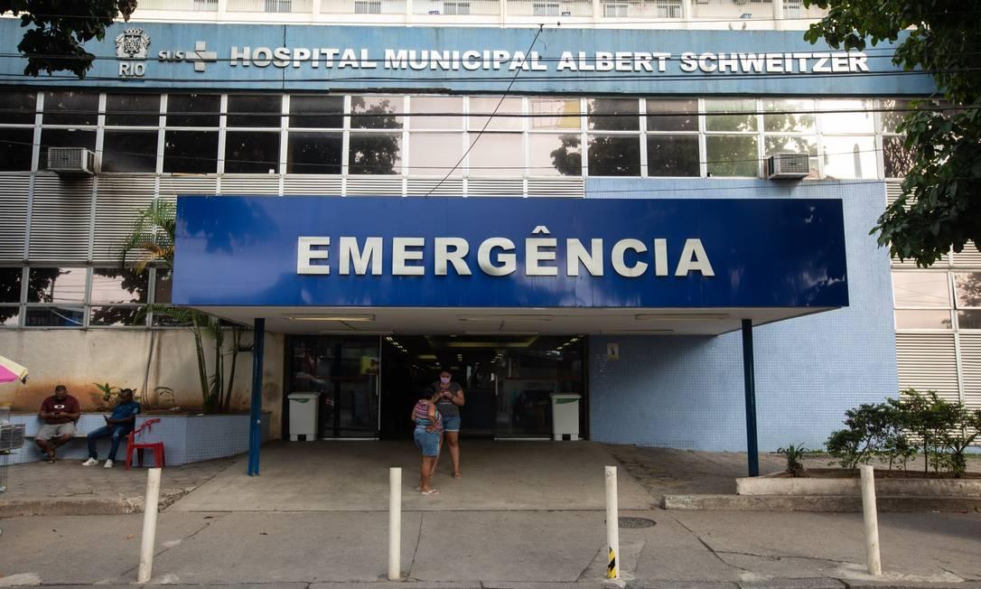 Hospital Municipal Albert Schweitzer, em Realengo Foto: Brenno Carvalho em 6-6-2020 / Agência O Globo