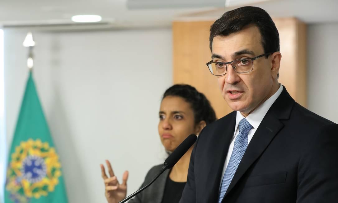 O novo Ministro das Relações Exteriores do Brasil, Carlos França Foto: Marcos Correa / Agência O Globo