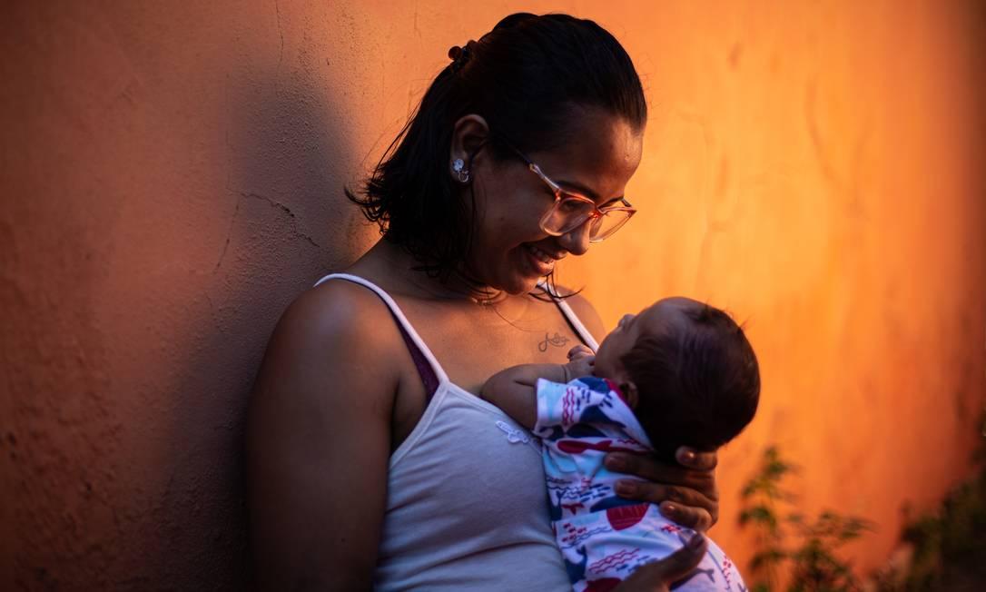 Juliana Vidal, de 28 anos, é um dos mais graves já vistos em gestantes com Covid-19 Foto: Hermes de Paula / Agência O Globo
