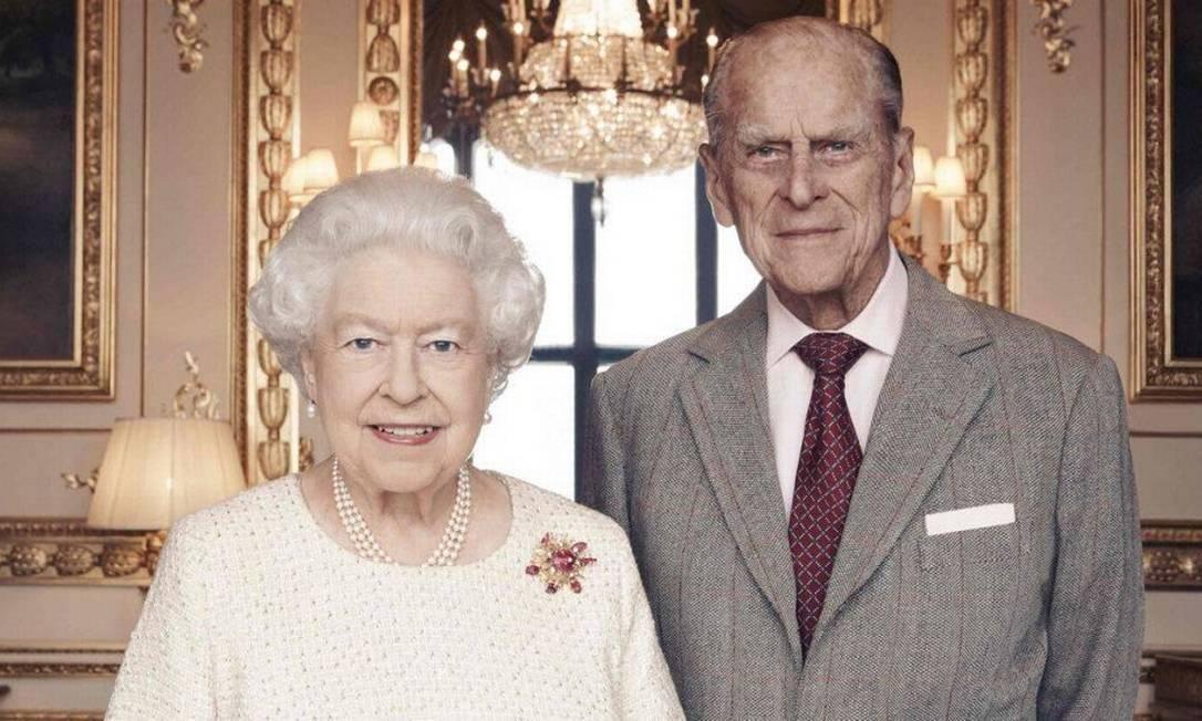 Rainha Elizabeth II e príncipe Philip em celebração dos 70 anos de casamento Foto: Divulgação
