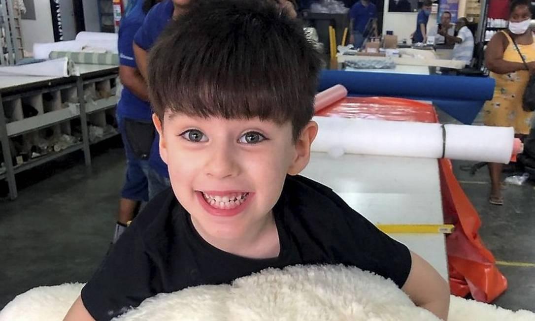 """Henry Borel, de apenas 4 anos, que morreu de hemorragia: o menino teria dito à mãe, segundo a própria Monique, que ela """"fosse pro céu"""" para que pudesse morar com os avós Foto: Divulgação"""
