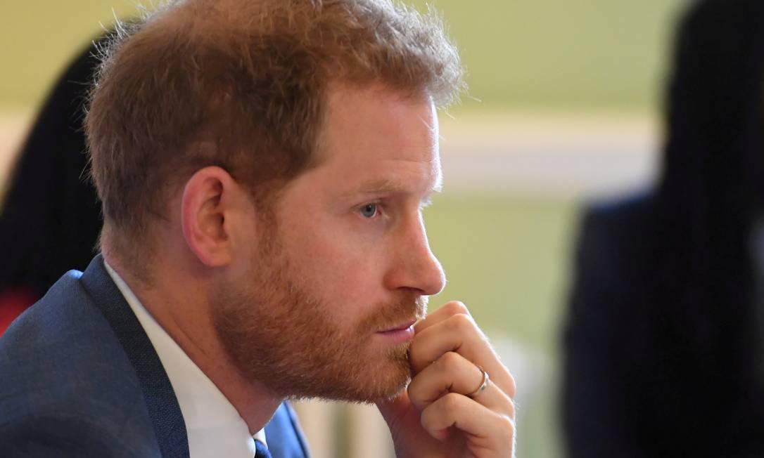 Príncipe Harry participará do funeral do avô, neste sábado Foto: POOL / REUTERS
