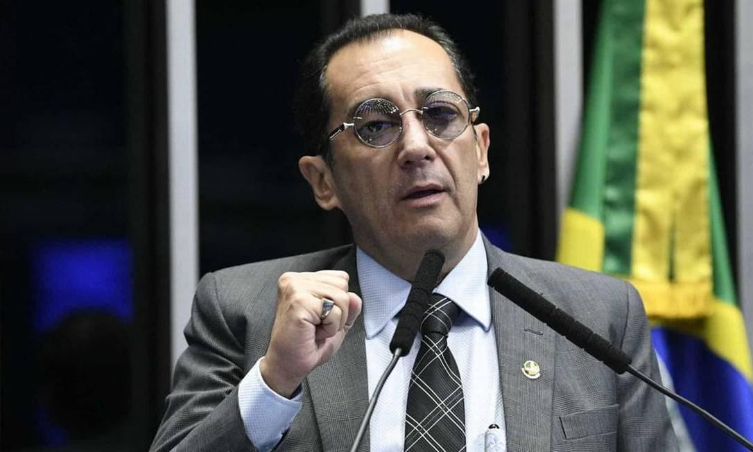 Senador Jorge Kajuru (Cidadania-GO) divulgou conversa em que Jair Bolsonaro pressiona por impeachment de ministros do Supremo Foto: Agência Senado