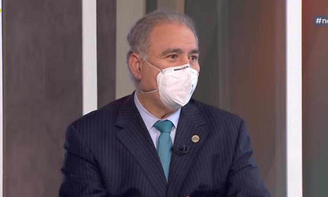Ministro da Saúde, Marcelo Queiroga Foto: Reprodução/TV Brasil