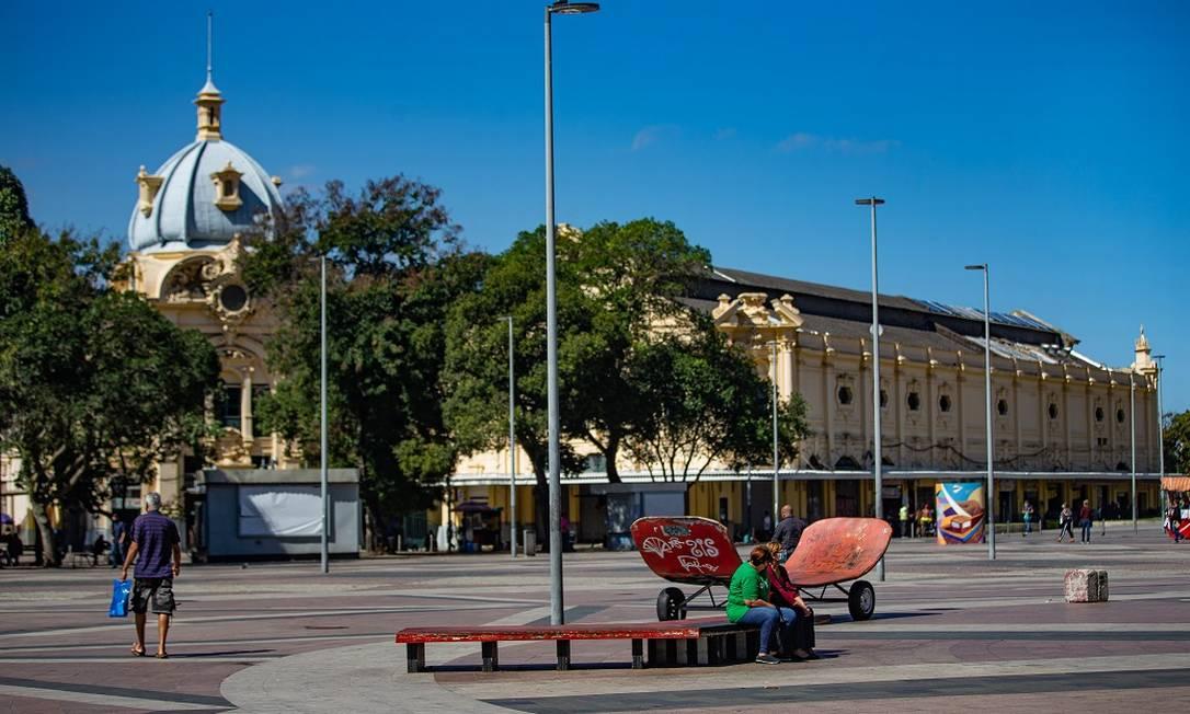 A Praça XV, no Centro do Rio Foto: Roberto Moreyra/06.08.2020 / Agência O Globo
