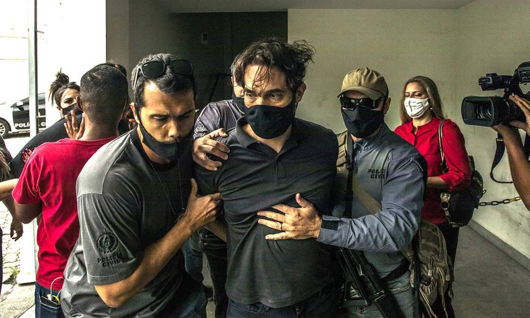 Jairinho logo após ser preso Foto: Guito Moreto / Agência O Globo