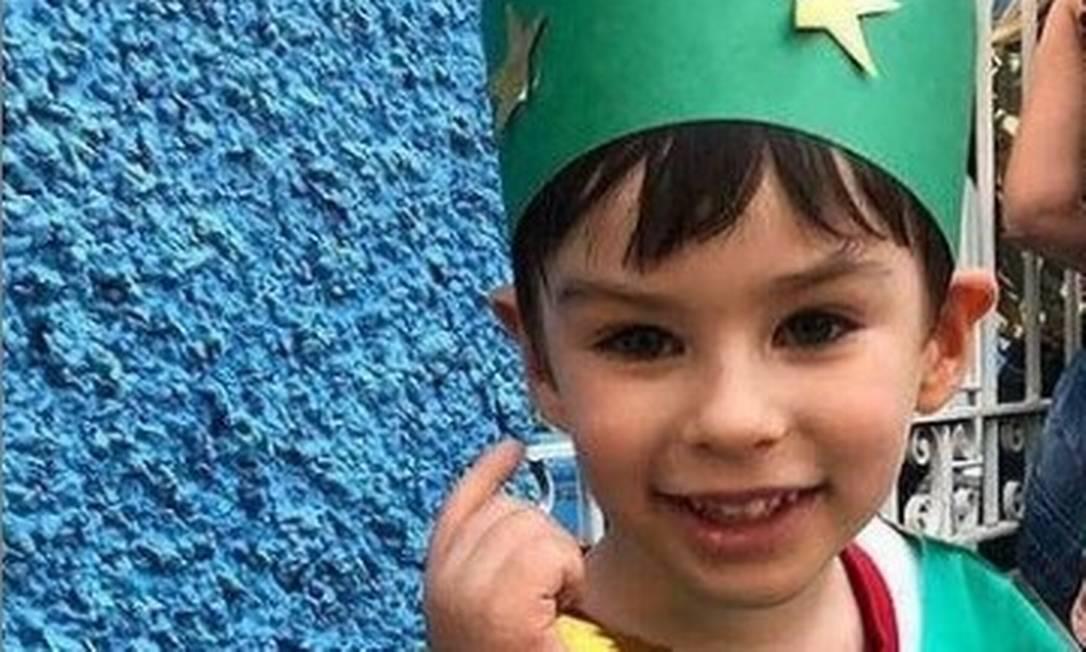 Henry Borel, de 4 anos, fantasiado em um momento feliz na escola Foto: Reprodução/Instagram