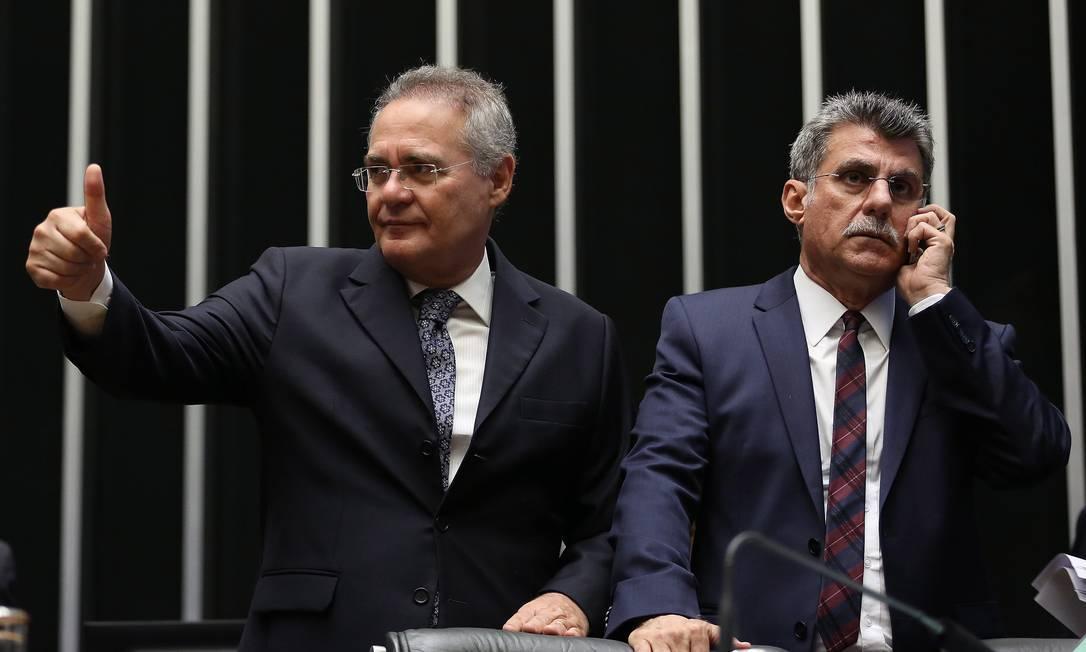 Renan Calheiros e Romero Jucá Foto: Ailton de Freitas / Agência O Globo