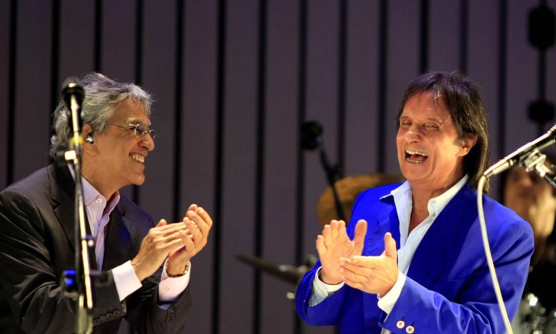 Show de Caetano Veloso e Roberto Carlos, no Teatro Municipa,l em Homenagem à Bossa Nova Foto: Leonardo Aversa / Agência O Globo - 22/08/2008