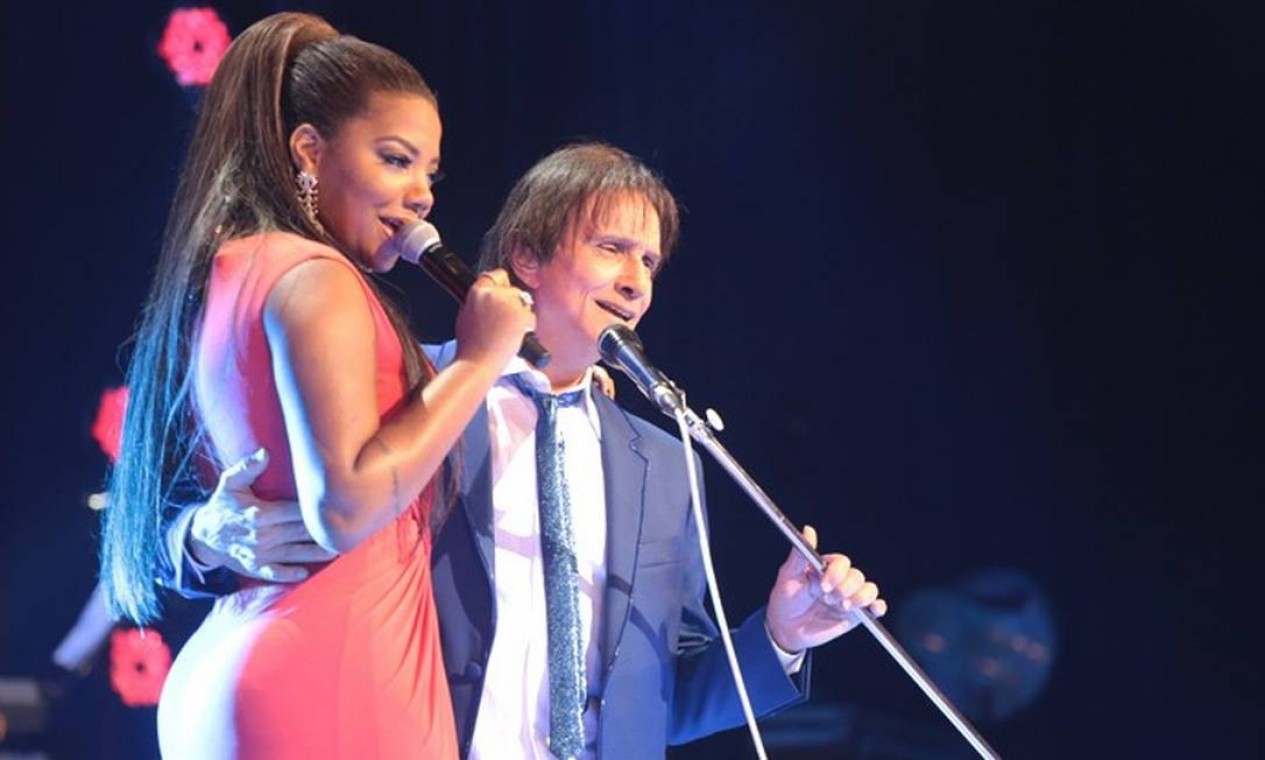 Gravação do especial de fim de ano do cantor Roberto Carlos com a cantora de funk Ludmilla Foto: Divulgação