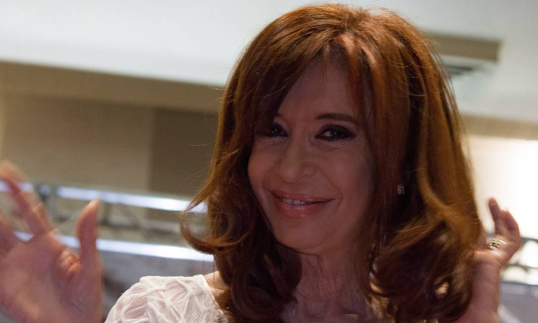 Cristina Kirchner durante ato-convenção do PT em São Paulo Foto: A7 Press / Agência O Globo